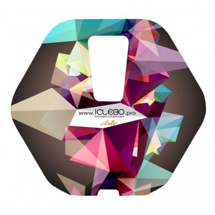 """Защитная виниловая наклейка с авторским дизайном """"Abstract"""" для робота-пылесоса iClebo Arte"""