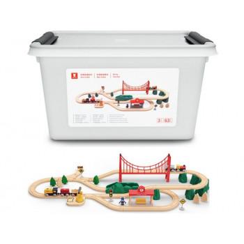 Детский конструктор железная дорога Xiaomi Mi Toy Train Set MITU