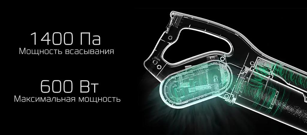 Вертикальный пылесос Xiaomi Deerma Vacuum Cleaner DX700S (черный)