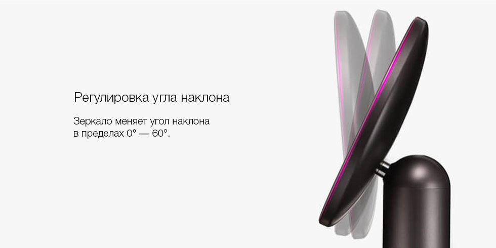 Зеркало для макияжа Xiaomi Amiro Daylight Mirror (AML005B) (черный) robot4home.ru