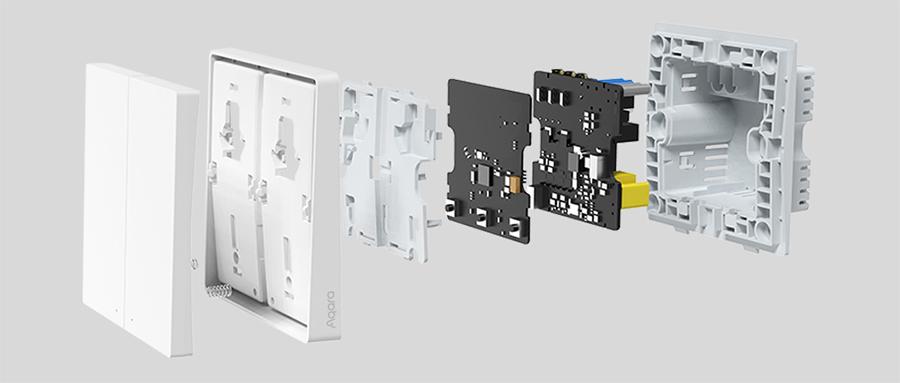Умный выключатель Xiaomi Aqara Smart Wall Switch D1 (Одинарный с нулевой линии) White (QBKG23LM) robot4home.ru