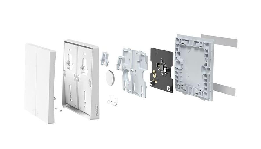 Умный выключатель Xiaomi Aqara Wall Wireless Switch Double Key D1 (двойной, не встраиваемый, дублирующий, белый) WXKG07LM robot4home.ru