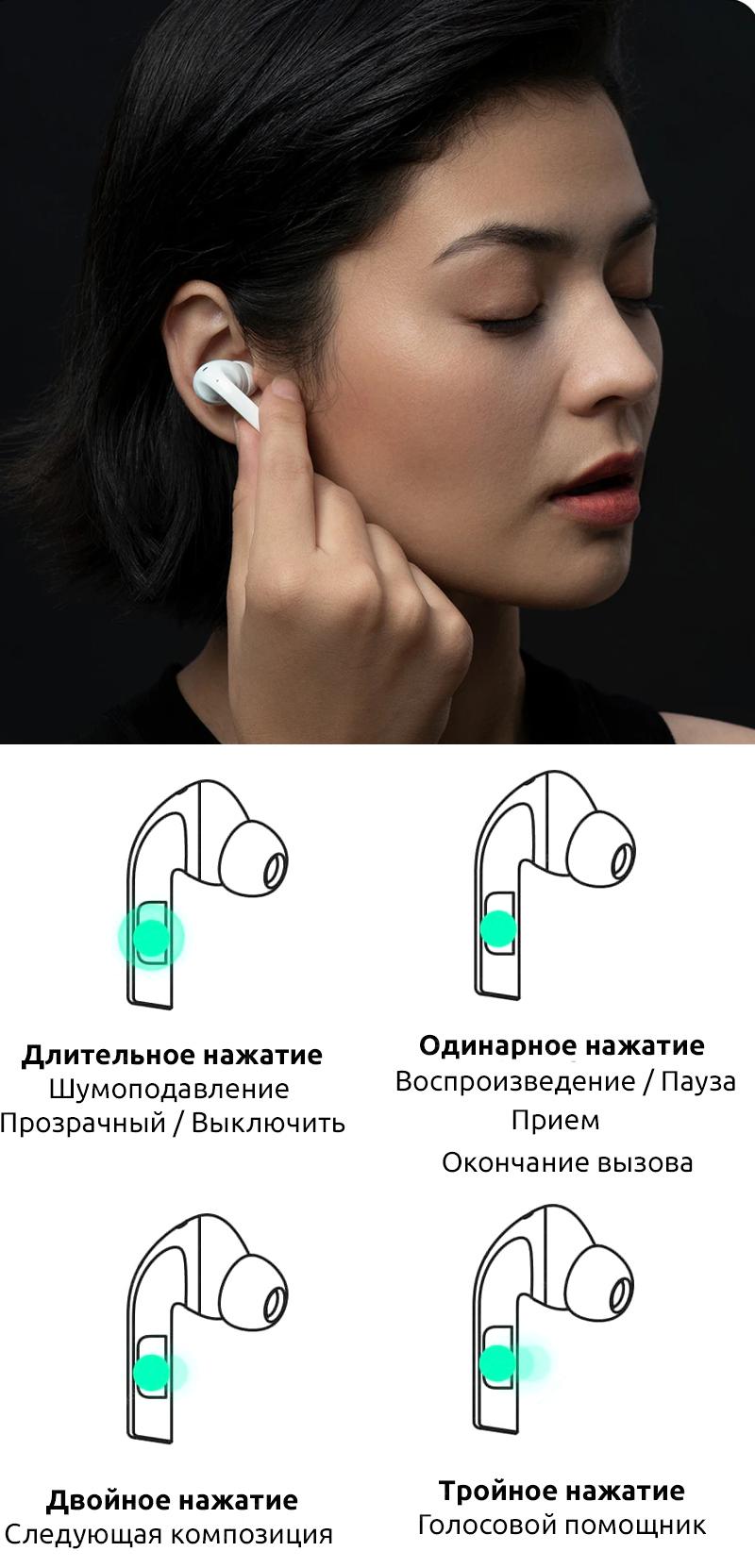 Беспроводные наушники ZMI PurPods Pro, white robot4home.ru