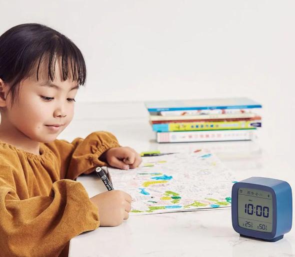 Цифровая бытовая метеостанция Xiaomi ClearGrass Bluetooth Thermometer Alarm clock CGD1 blue robot4home.ru