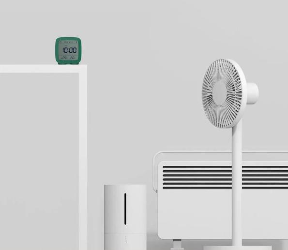 Цифровая бытовая метеостанция Xiaomi ClearGrass Bluetooth Thermometer Alarm clock CGD1 green robot4home.ru