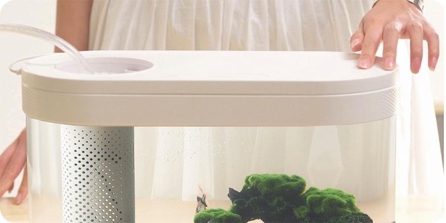 Аквариум Xiaomi Eco fish tank HF-JHYG001 White (Белый) robot4home.ru