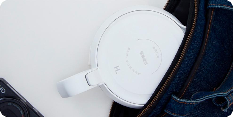Электрический чайник складной Xiaomi HL Folding Electric Kettle KP-808 (белый) robot4home.ru