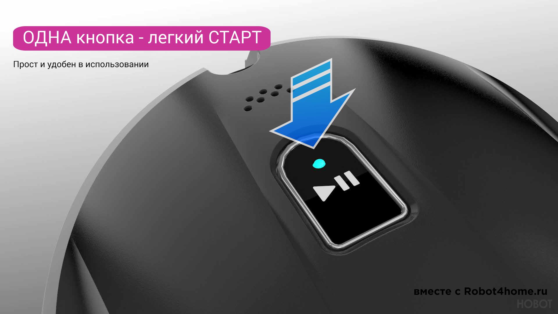 Робот мойщик окон Hobot-388 Ultrasonic robot4home.ru