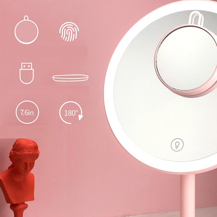 Зеркало косметическое настольное Xiaomi Jordan Judy LED Makeup Mirror (NV529) с подсветкой robot4home.ru