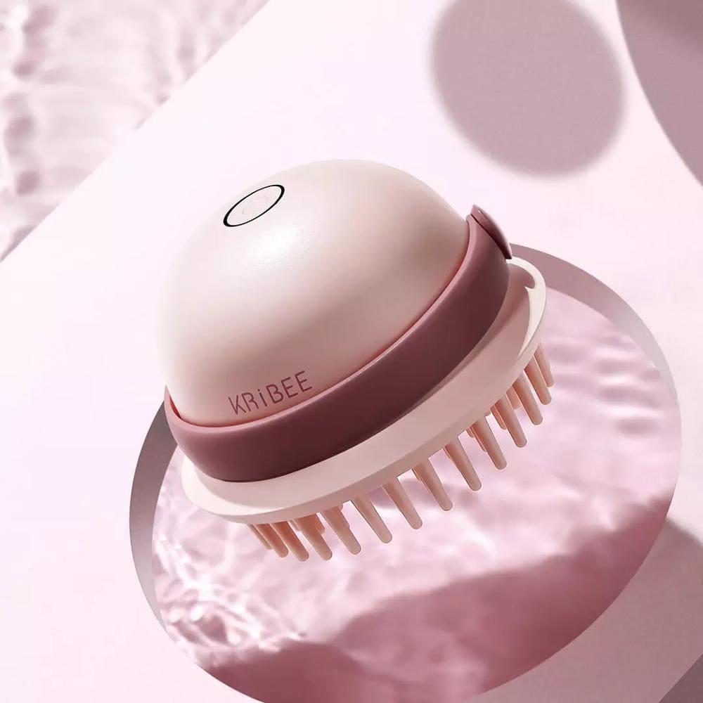 Антистатическая массажная расческа Xiaomi Kribee Little Jellyfish Shampoo Artifact Mocha Green robot4home.ru