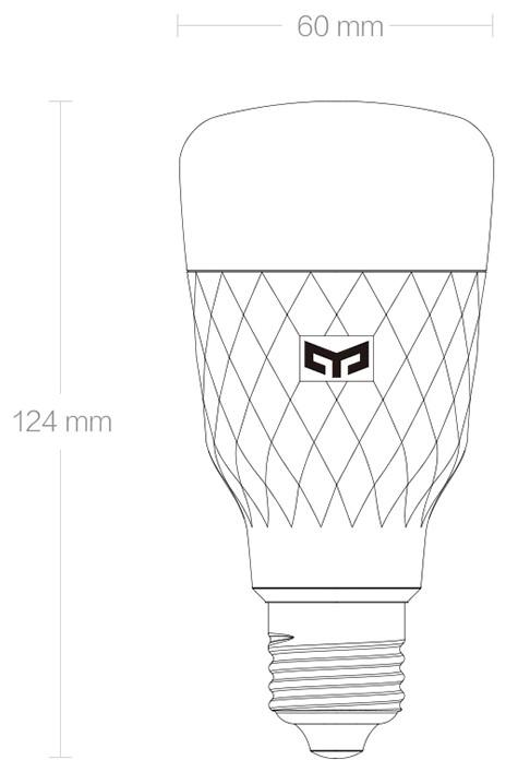 Умная Лампочка Xiaomi Yeelight Smart LED Bulb W3 (White) (YLDP007) robot4home.ru