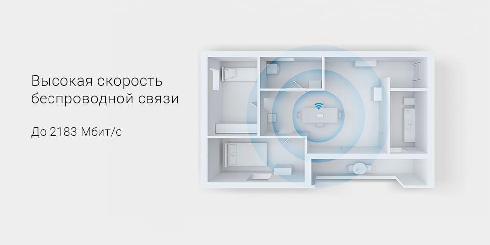 Wi-Fi роутер Xiaomi Mi AIoT Router AC2350, белый robot4home.ru