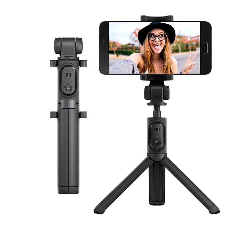 Трипод/монопод Xiaomi Mi Bluetooth Selfie Stick Tripod черный robot4home.ru