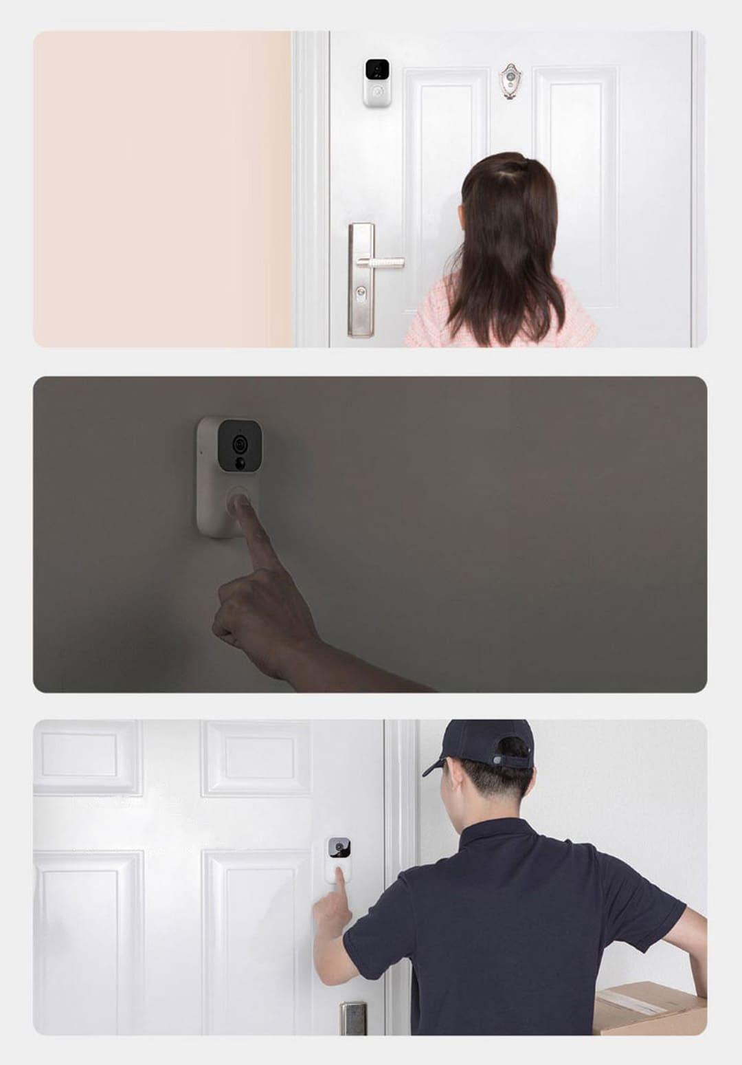 Дверной звонок Xiaomi Mijia Video Doorbell Enhanced Version FJ04MLWJ robot4home.ru