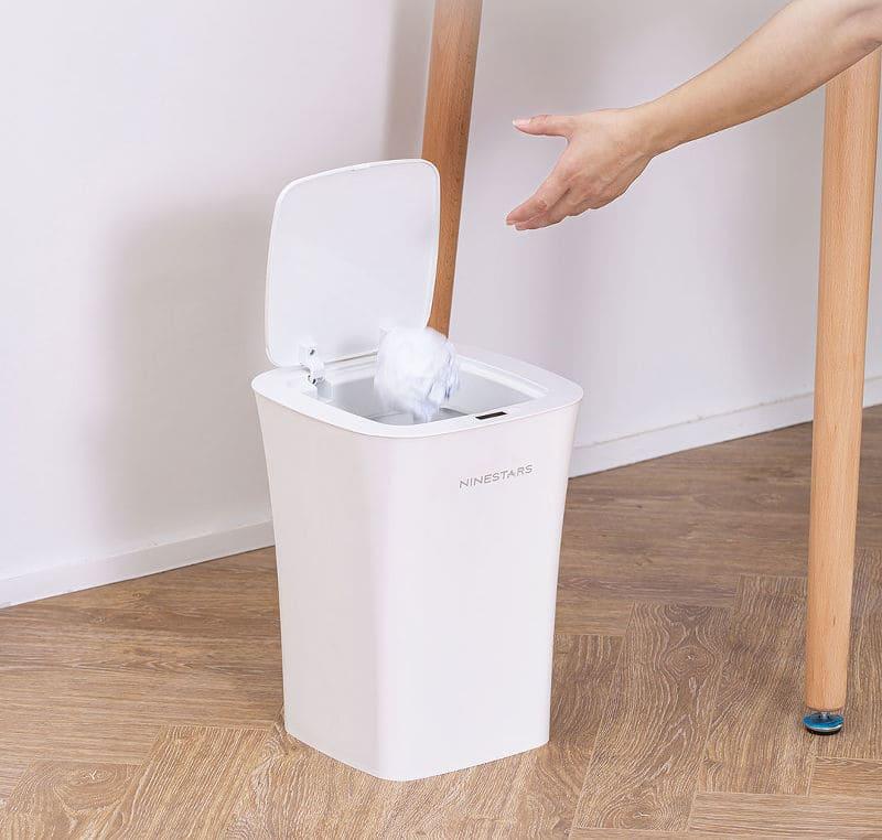 Мусорное ведро Xiaomi Ninestars Waterproof Trash Can 10L White (белый) robot4home.ru
