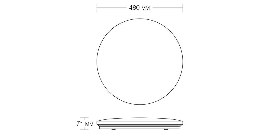 Потолочная лампа Xiaomi Yeelight LED Yilai Aiyue Galaxy Ceiling Light 480 (YIXD05YI) robot4home.ru