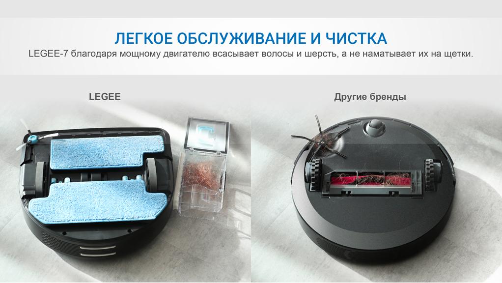 Робот-пылесос HOBOT Legee-7, черный/синий robot4home.ru
