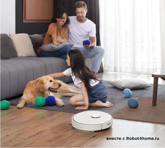 Робот-пылесос Xiaomi Roborock S6 Pure(белый) robot4home.ru