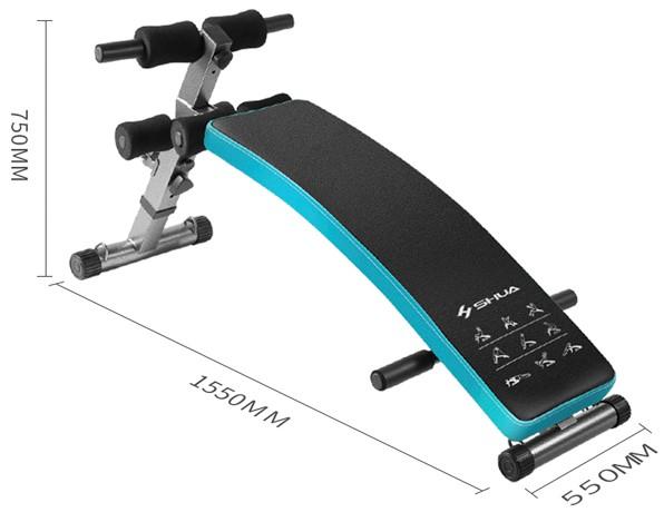 Спортивная скамья Xiaomi SHUA Сurved Multi-function Abdominal Board (SH-575) robot4home.ru