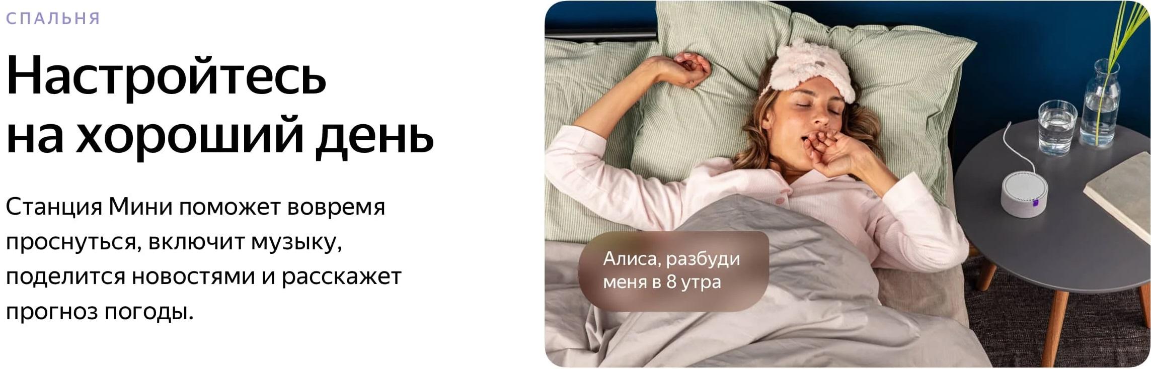 Умная колонка Яндекс Станция Мини с Алисой (черный)