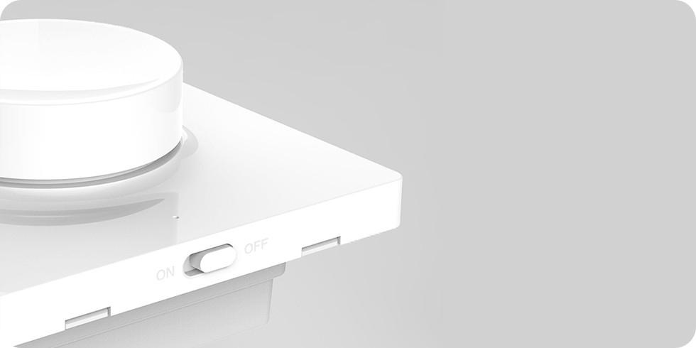 Настенный выключатель диммер Xiaomi Yeelight Smart Dimmer Bluetooth Wall Switch (YLKG07YL), встраиваемый