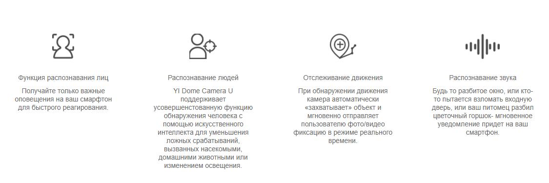Сетевая камера Xiaomi YI Dome Camera U 1080P EU white robot4home.ru