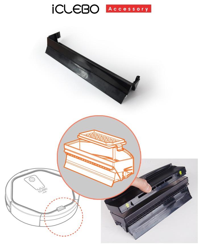 Резиновый скребок для роботов пылесосов iCLEBO A3, Arte и Pop