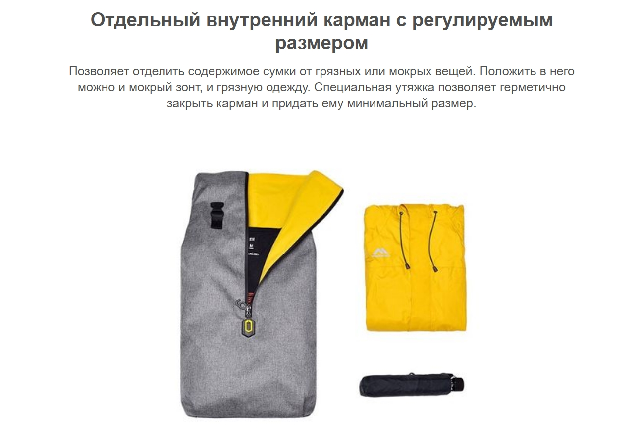 Рюкзак Xiaomi 90 Points Outdoor Leisure Backpack (Синий)