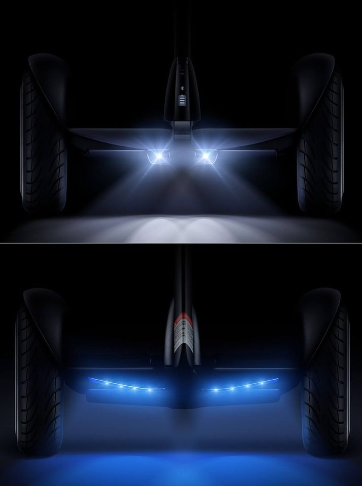 Самобалансирующейся скутер Ninebot mini Pro подсветка спереди и сзади скутера