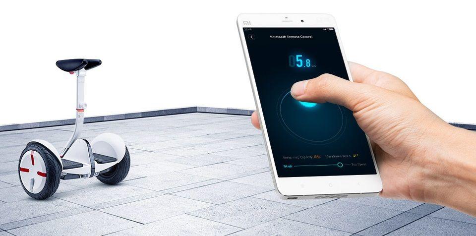 Самобалансирующейся скутер Ninebot mini Pro управление со смартфоном