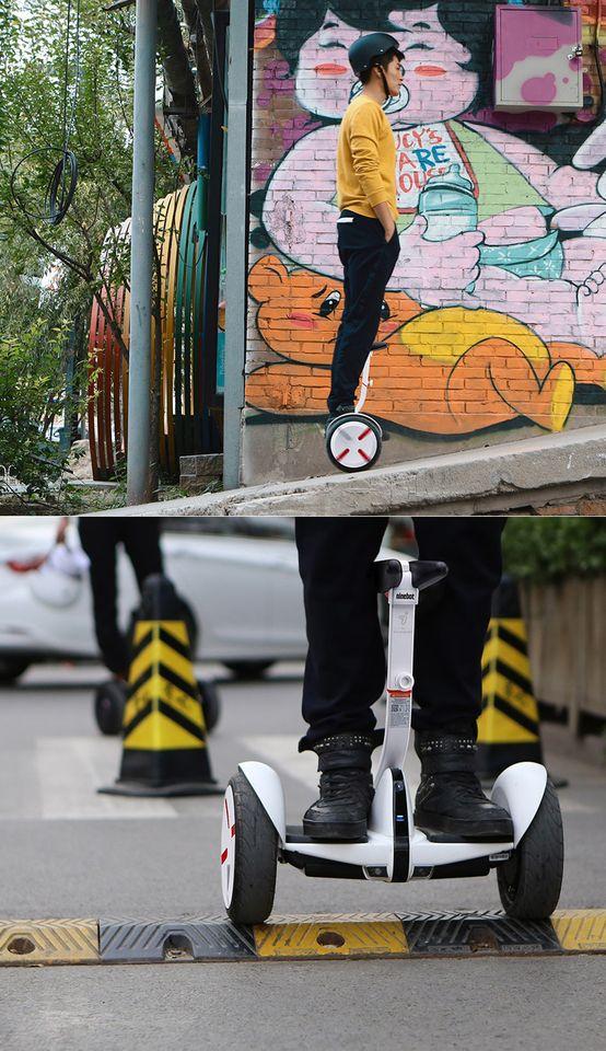 Самобалансирующейся скутер Ninebot mini Pro подьем и лежачий полицейский